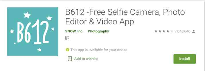 B612 -Free Selfie Camera, Photo Editor & Video App