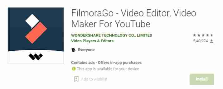 FilmoraGo (Video Banane Wala Apps)