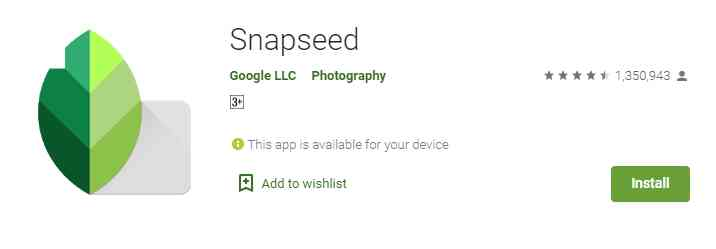 Snapseed (Photo Banane Wala Apps)